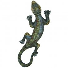 Gekko, wall decoration, hand painted, 50 cm
