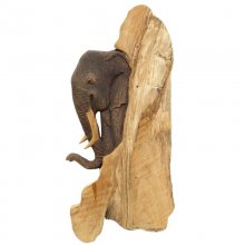 Wall decoration elephant, ca. 46 x 20 cm