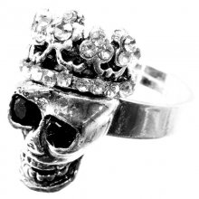 Ring Skull with crown