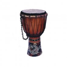 Drum, hand painted, height: 30 cm