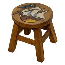 childrens stool Pirate ship
