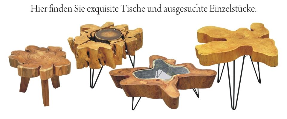 Exquisite Tische und Einzelstücke